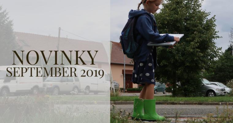 Septembrové novinky 2019